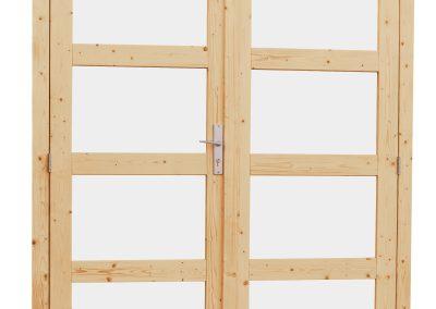 18276-Dubbele deur 4-ruits (met melkglas)