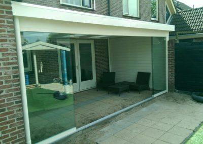 Maatwerk overkapping met glasschuifwand, IJsselmuiden #62